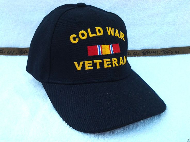 COLD WAR VETERAN (BLACK) Military Veteran Hat 118 VV #BaseballCap