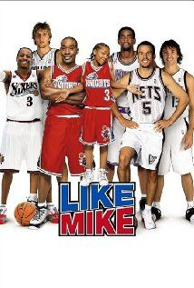 """Like Mike (2002) A 14-year-old orphan becomes an NBA superstar after trying on a pair of sneakers with the faded initials """"M.J."""" inside."""