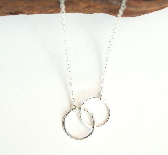 Mau loa necklace - silver infinity necklace, www.kealohajewelry.etsy.com Maui, Hawaii