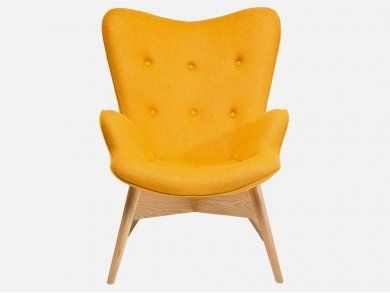 Fotel Angels Wings Eco żółty wełna — Fotele — KARE® Design