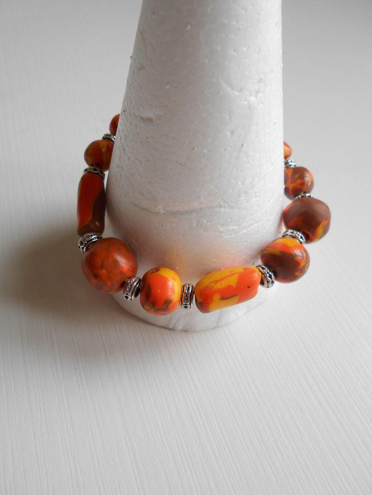 Bracelet réalisé avec des perles uniques en fimo : Bracelet par toutankharton36