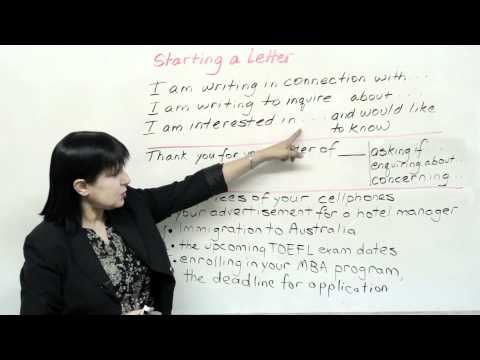 Writing a Formal Letter in English - How to Start