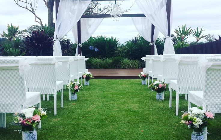 The wedding Pavilion looking very green !