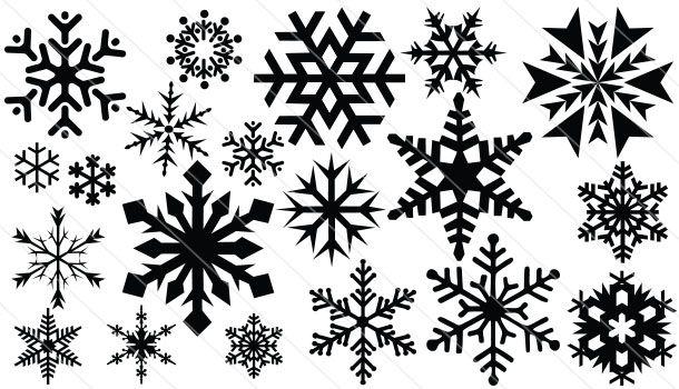 Snowflake Silhouette Vector 20 Silhouette Clip Art
