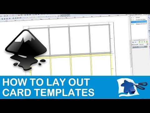 How To Lay Out A Card Template Dining Table Print Play Youtube Card Template Recipe Cards Template Layout