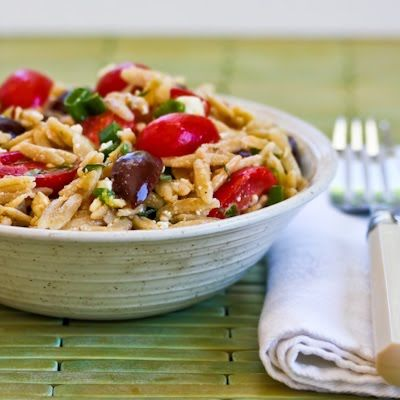 Whole Wheat Orzo Salad with Tomatoes, Kalamata Olives, Feta, and Herb ...