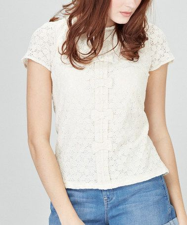 Take a look at this Cream Laila Top by Sugarhill Boutique on #zulily today!