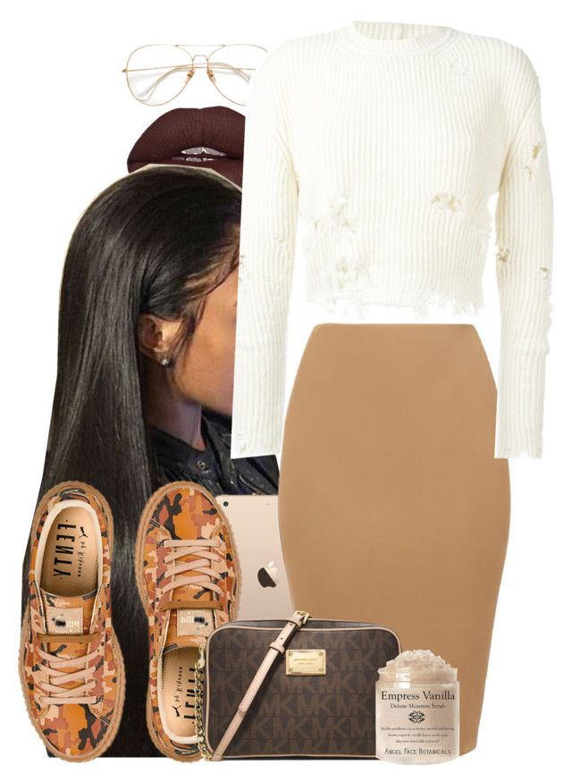 """Untitled #684"" by b-elkstone ❤ liked on Polyvore featuring Puma, MICHAEL Michael Kors and adidas Originals"