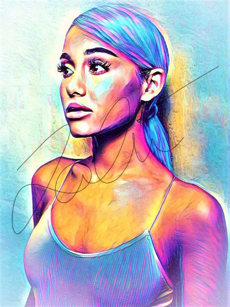 Ariana Grande Abstract Print #ARIANA_ABSTRACT11 in 2020 ...