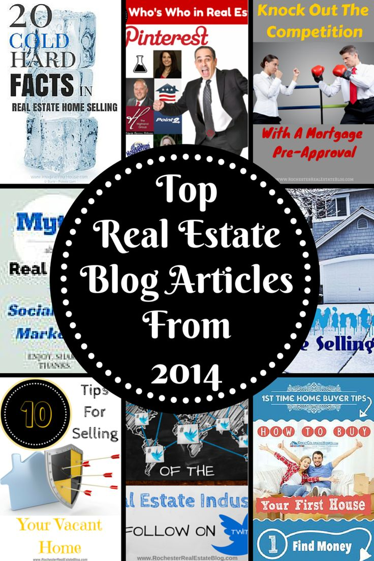 2014 was filled with great real estate articles from several real estate industry professionals. Check out these top real estate blog articles from 2014. http://rochesterrealestateblog.com/top-real-estate-blog-articles-2014/ via @KyleHiscockRE #realestate #socialmedia #smm #blogging