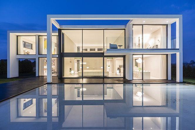 Futurystyczny Beton House projekt autorski architekta Seweryn Nogalskiego,