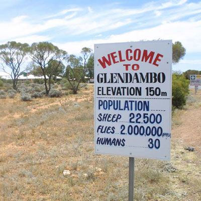 Now doesn't this make you want to visit Glendambo, South Australia?