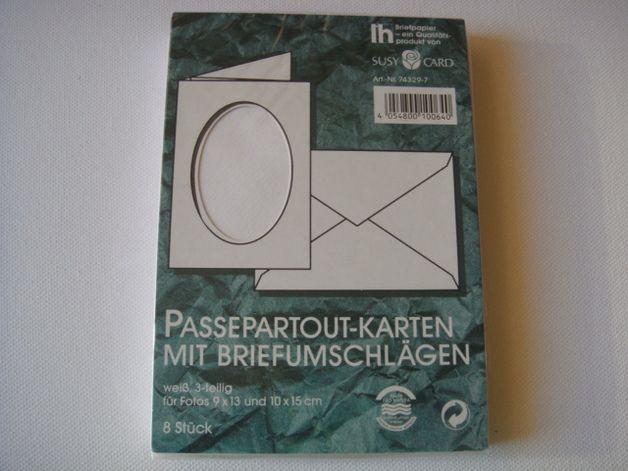 Passepartout-Karten, 8 Stk. mit Umschlag
