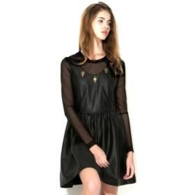[Workwear]skull leather dress 130,500