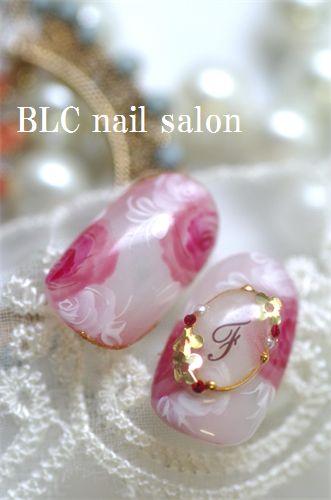シアーな水彩フラワー|新潟市中央区万代ネイルサロン~BLC nail salon