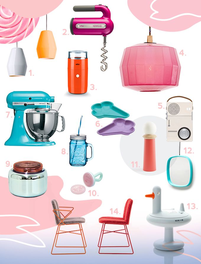 Soczyste, cukierkowe kolory towarzyszą przedmiotom codziennego użytku jak urządzenia kuchenne, lampy czy meble. Wyróżnia je coś jeszcze: intrygujący koncept. Sprawdźcie, co wniesie trochę słodyczy do waszego mieszkania.