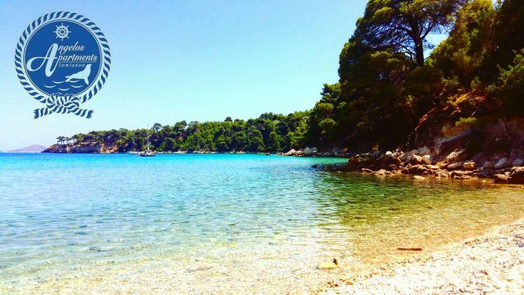 Leave me here....😀✔👍 Tzortzi Gialos beach 🌊🌊🌊🌊 #angelos_apartments #Alonissos #Sporades #Greece #greekislands #discoveralonissos #visitalonissos #beach #blue #green #summer2016