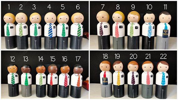 These fun LDS missionary peg dolls are a fantastic quiet toy for sacrament meeting, nursery, or any time play. Even the youngest can start to feel a love of missionary work. :) Each is unique, with its own little missionary tag and fun outfits for the sisters and ties for the