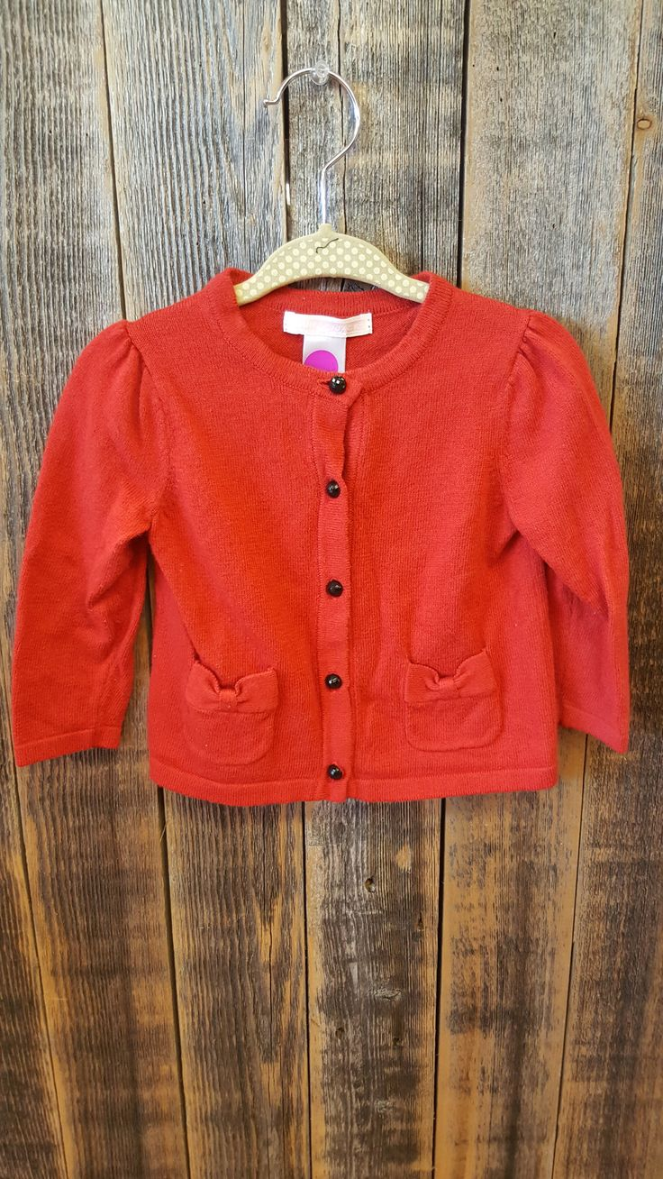 Janie and Jack Red Cardigan Size 6-12m