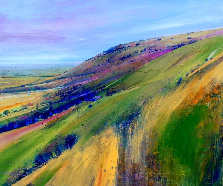 Lorna Holdcroft ~ Recent Paintings, view of the SOuth Downs