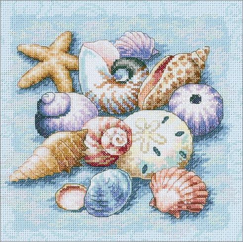 Cross Stitch Craze: Beach Cross Stitch Sea Shells