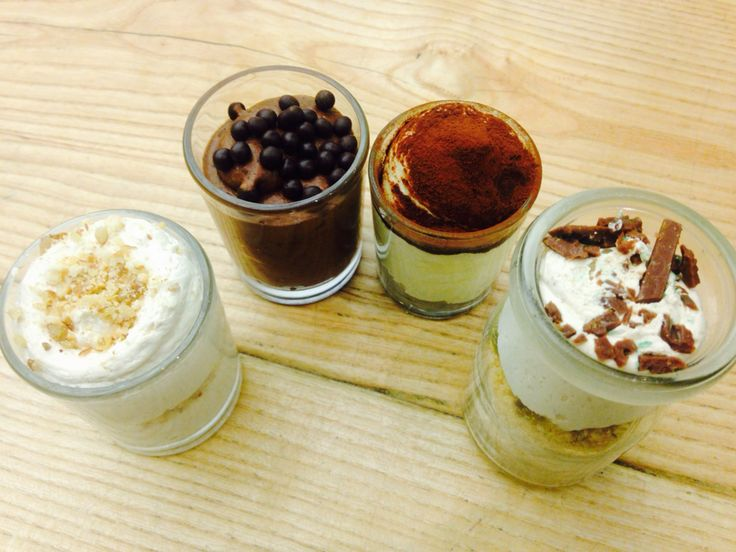 Caramel cheesecake, dark chocolate mousse, Tiramisu, Peppermint Crisp.  Treats @ Leopard's Leap