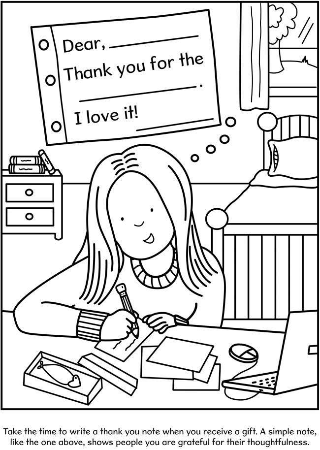 Good Table Manners Coloring Pages Sketch Coloring Page