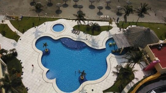 Pool in Camino Real Hotel. Boca del Rio,Veracruz. Mex.