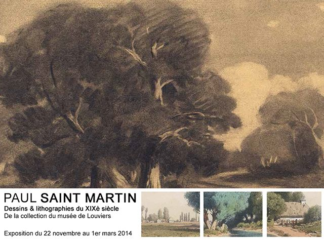 Exposition, PAUL SAINT MARTIN au musée de #Louviers