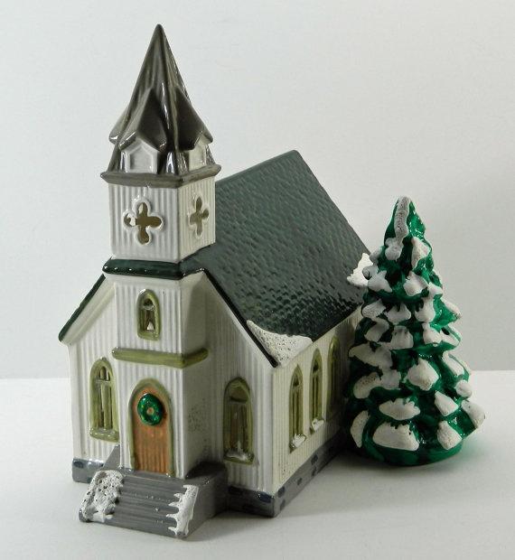 Painting Church In Snow Religious Christmas Ceramic: Joy Studio Design Gallery - Best Design