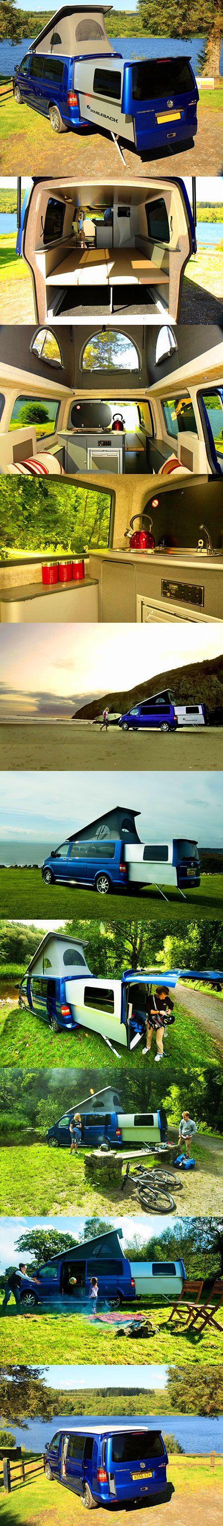 Volkswagen Doubleback T5 - Camperplaats IndeVerte Stellplatz