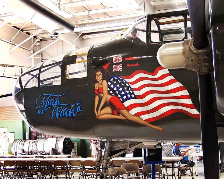 Mitch the Witch, a B-25 Mitchell Bomber at the Palm Springs Air Museum, Palm Springs CA. (c) Richard Bauman