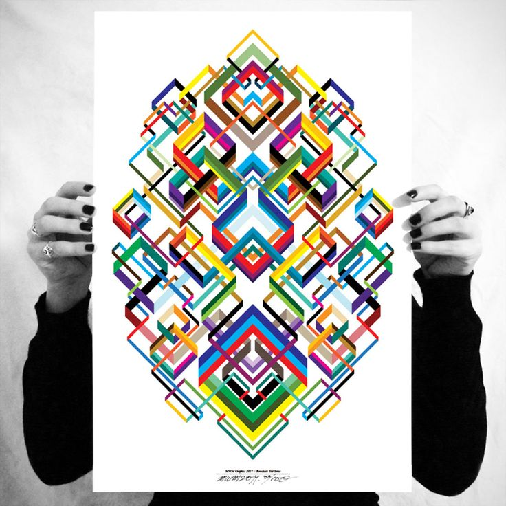 #1 of 3, Matt W. Moore's Rorschach Test Series.  I dearly want a set of these prints.