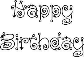 Resultado de imagen para happy birthday fonts