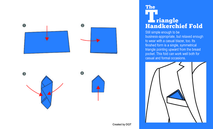 How To Fold a Triangle Handkerchief (10 of 11) by DQT -http://www.dqt.co.uk/blog/fold-triangle-handkerchief-10-11-dqt/