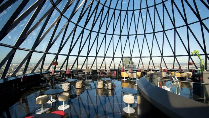Searcy's at the Gherkin http://luxworldwide.com/magazine/eat-drink-and-sleep/london-bars-the-city-slicker/