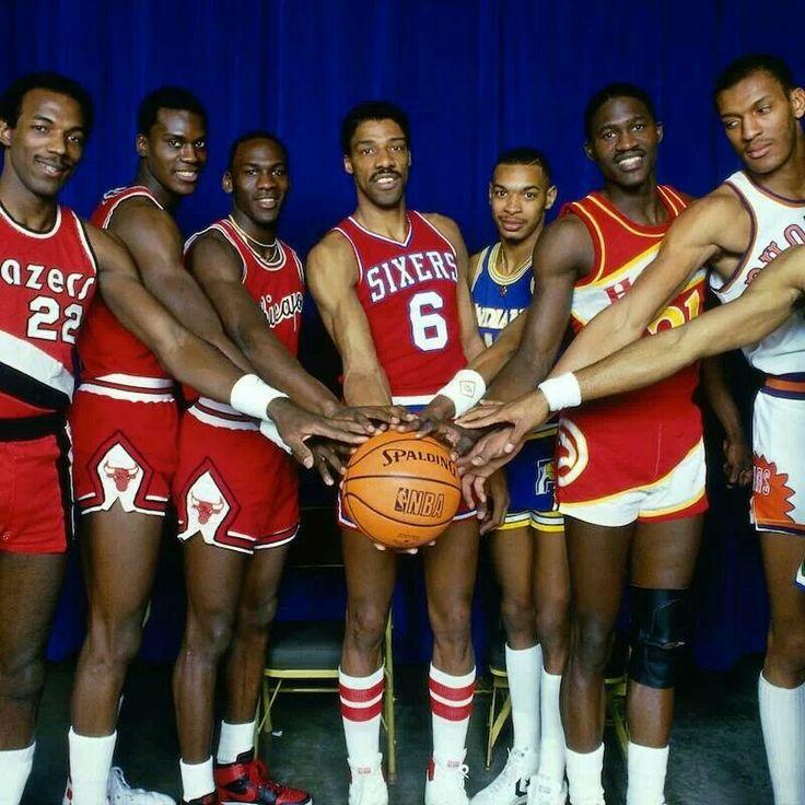 1985 NBA Slam Dunk Contest contestants...pretty good