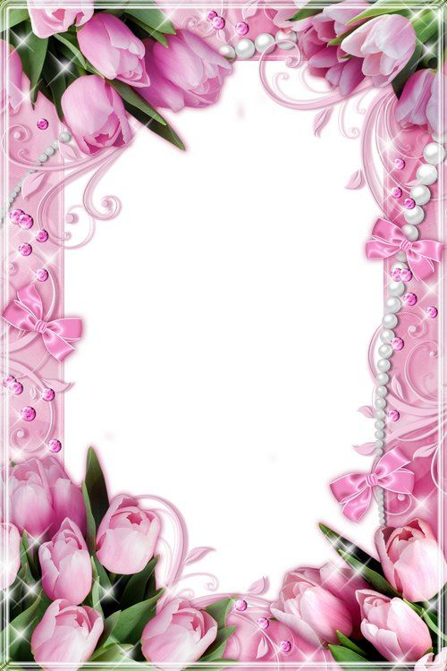 Purple Rose Frame Two flower frames with...