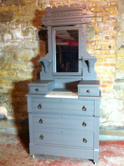 Painted Eastlake Antique Victorian Dresser in Logan Square, Chicago ~ Apartment Therapy Classifieds