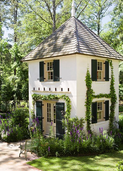 a playhouse with a garden of its own.