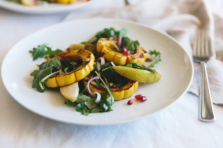 Show off those seasonal veggies in this Roasted Delicata Squash Salad