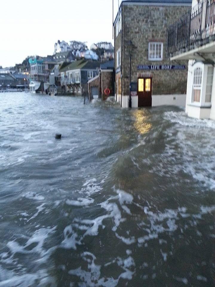 Flooding St Ives, Cornwall UK