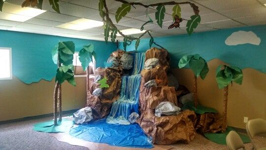 Classroom Waterfall Ideas ~ Best images about classroom jungle theme on pinterest