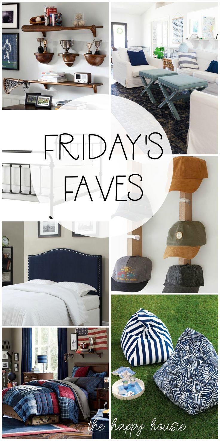 Friday's Faves from The Happy Housie #thehappyhousie #boysroom #livingroom #coastaldecor