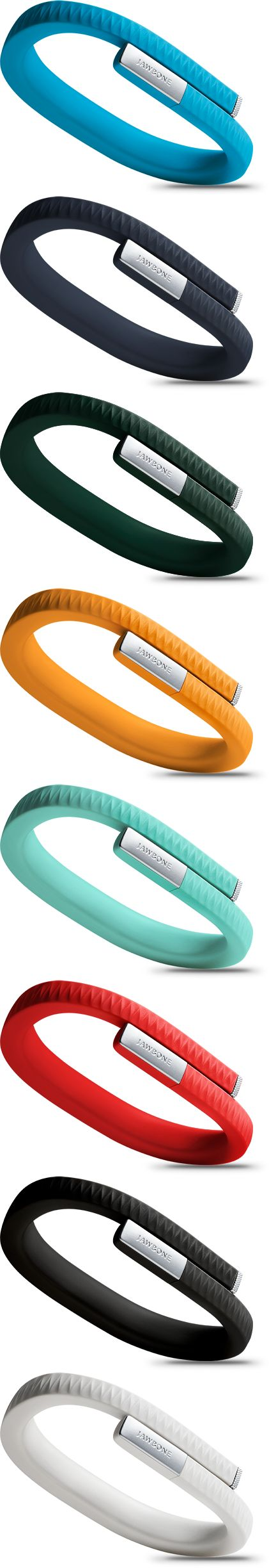 Up band jawbone, for the exercise fanatics. I saw these at the apple store the other day! WANT
