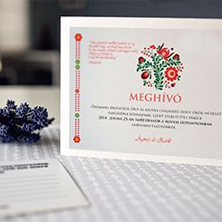 Wedding invitation card by Design Flotta