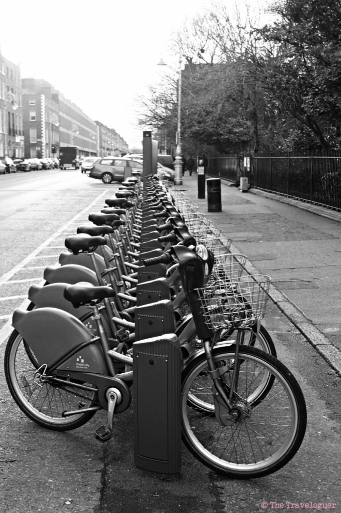 Dublin City Bicycles  #travel #photography #monochromemonday