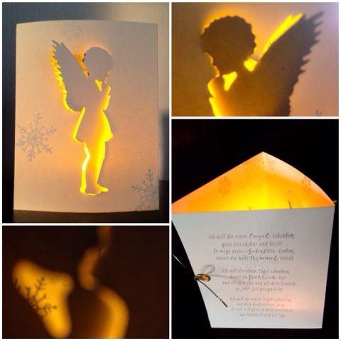 Card Creations by Ellis van Veenendaal: Weihnachtsengel mit Lichtblick...