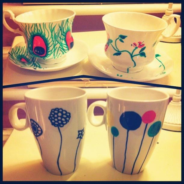 crockery designs #magpie #handmade #peacock #flowers #crafts #buy www.magpiehandmadedesigns.co.uk