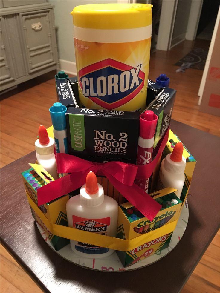 School Supply Cake for your favorite teacher!!